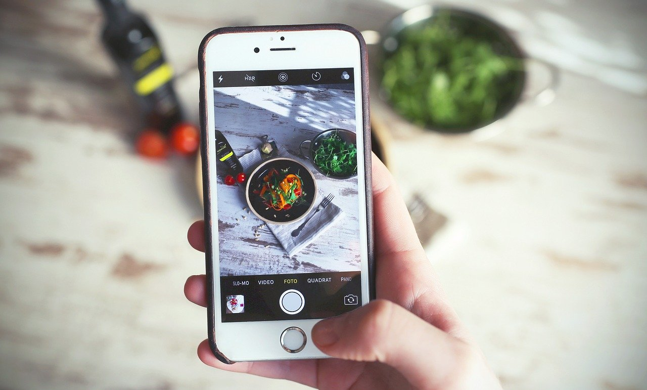 Monitoring your food intake by taking photos